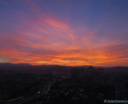 Sunset in KL クアラルンプールの夕焼け