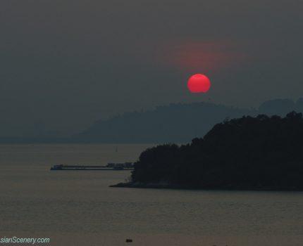 Beautiful Sunrise in Penang ペナン島の美しい日の出