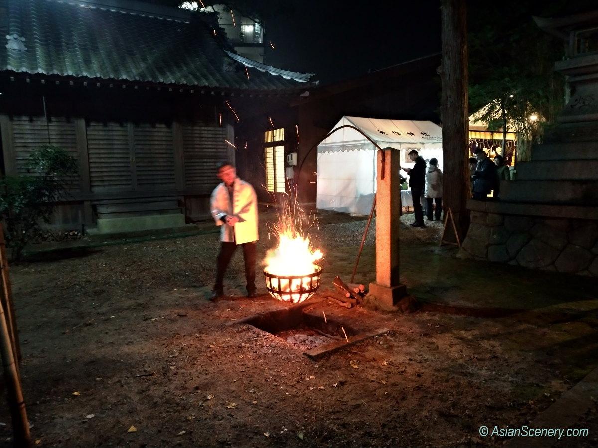 Yearly first visit at Yahagi Shrine 矢作神社へ初詣